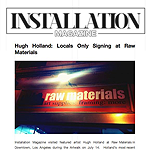 Installation Magazine - Hugh Holland